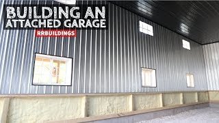 How to Build a Garage Addition 28: Installing Gutter and Galvanized Wall Steel