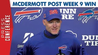 """Bills HC Sean McDermott Post Week 9 Win 