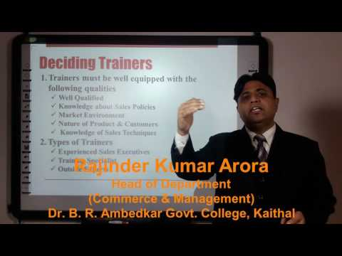 Sales Force Management: Training Process & Methods in Hindi under E-Learning Program