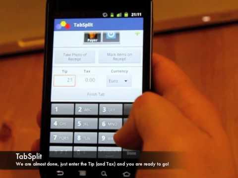 TabSplit - QuickEntry (Entering Itemized Bill using a receipt)