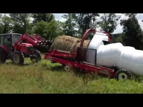 Eden Shale Farm: Wrapping Sudan Grass Hay