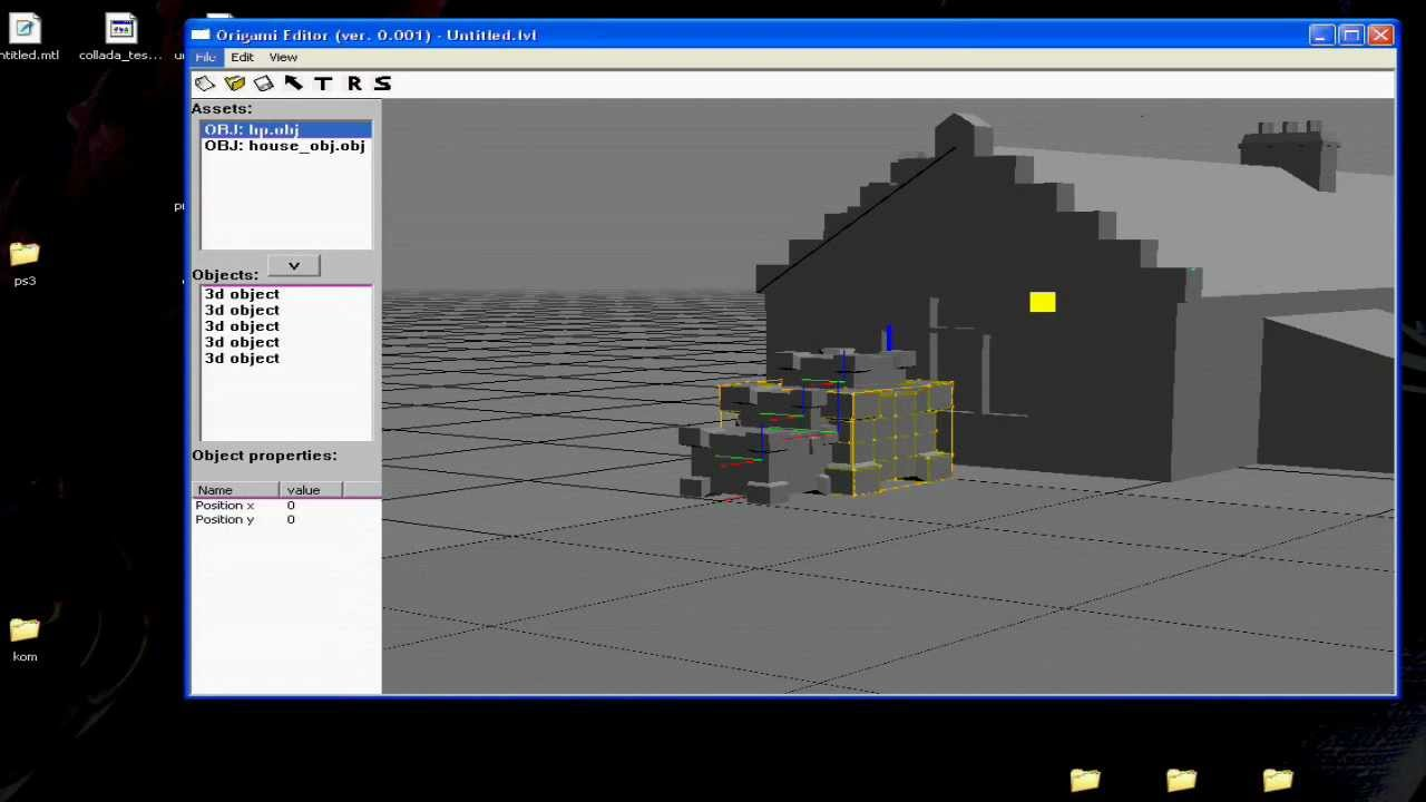Testing 3d level editor creating simple map adding 3d editor