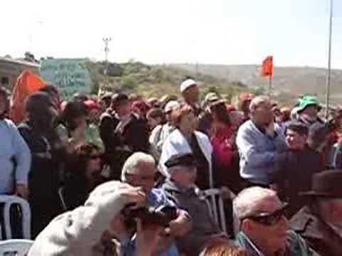 Shaul Mofaz Booed in Gush Etzion 1 of 2