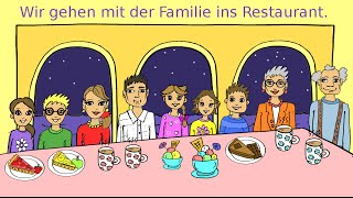 Deutsch lernen: Mit der Familie im Restaurant