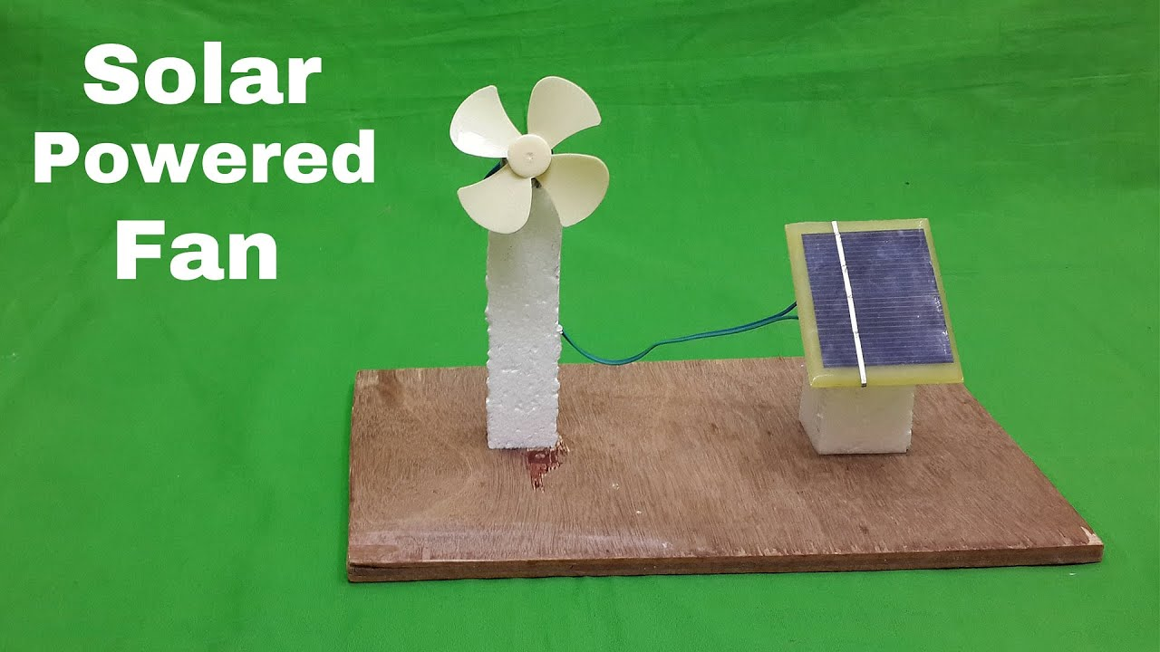 How to make a solar powered electric fan science project for Solar energy projects for kids