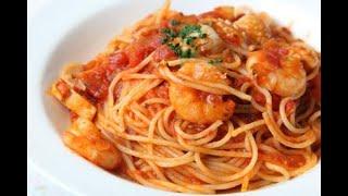 Спагетти с креветками! Простой рецепт - ПАСТА с КРЕВЕТКАМИ