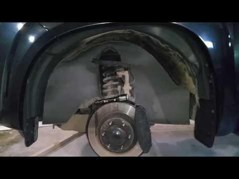Prado 150 как утеплить арки колес и закрыть от грязи мотор,  часть1