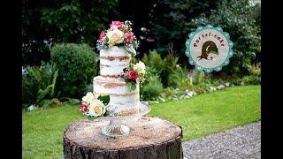 Naked Cake/Seminaked/Weddingcake/von Purzel-cake