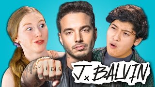Teens React to J BALVIN  (Colombian Music Star)