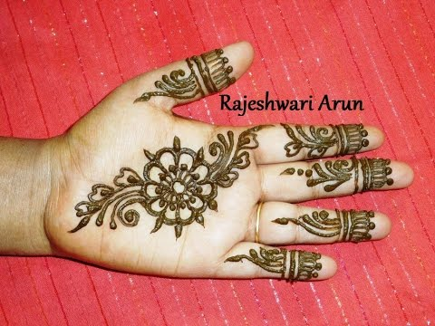 Easy Mehndi Designs Hands : Simple easy henna mehndi designs for hands step by