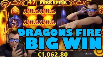 HUGE MEGA WIN on Dragon's Fire Slot!