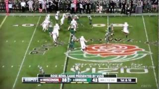 Oregon Highlights vs Wisconsin 2012 Rose Bowl