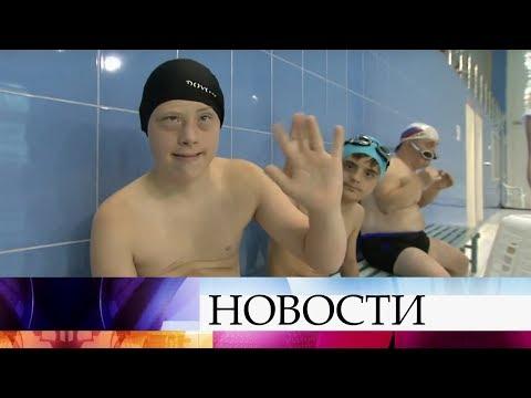 """В Казани проходят состязания по плаванию """"Победим вместе""""."""