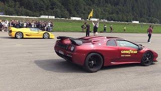 Lamborghini Diablo SVR vs Ferrari F50 vs Bugatti EB110