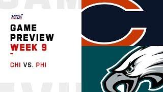 Chicago Bears vs. Philadelphia Eagles Week 9 NFL Game Preview