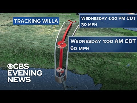 Hurricane Willa hits Mexico, aims for Texas