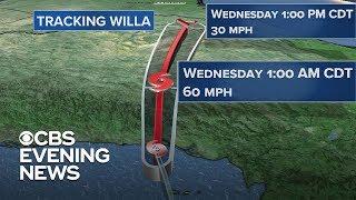 Hurricane Willa hits Mexico, aims for Texas