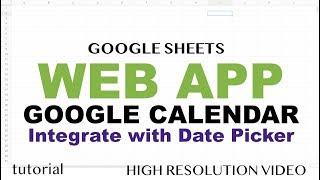 Integrate Google Calendar in Web App - Google Apps Script Web App Tutorial - Part 6