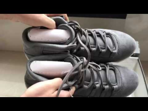"f4998598116 2017 Air Jordan 11 PRM ""Suede""/Cool Grey/Sail - YouTube"