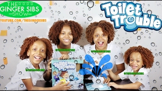 TOILET TROUBLE CHALLENGE! | Hasbro Gaming | THE GINGER SIBS