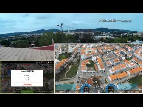 Parrot Bebop 2 flying more than 2km over a Town