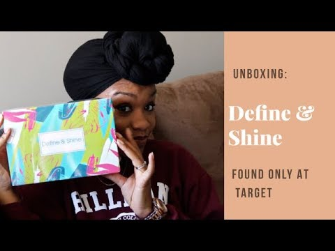 Define and Shine sample box from Target