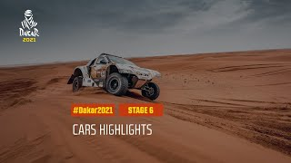 #DAKAR2021 - Stage 6 - Al Qaisumah / Ha'il - Car Highlights