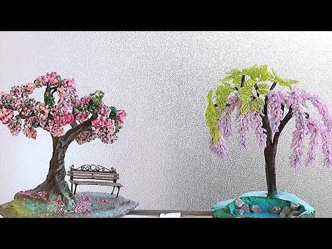 САКУРА из бисера своими руками / Бисероплетение DIY
