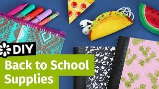 diy back to school supplies pencil case cord taco mini notebooks   sea lemon