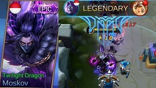 Moskov Epic Skin TWILIGHT DRAGON Full Legendary Gameplay - Mobile Legends