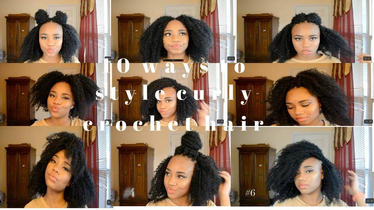 How To Style Curly Crochet Hair Easy Youtube