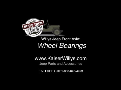 willys jeep front wheel bearings youtube rh youtube com
