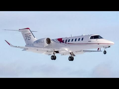 Bombardier Learjet 75 (LJ75) landing & departing Montreal (YUL/CYUL)