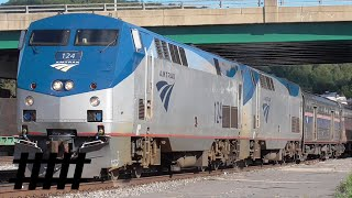 Amtrak Capitol Limited stops at Cumberland, MD for Passengers and a Crew Change