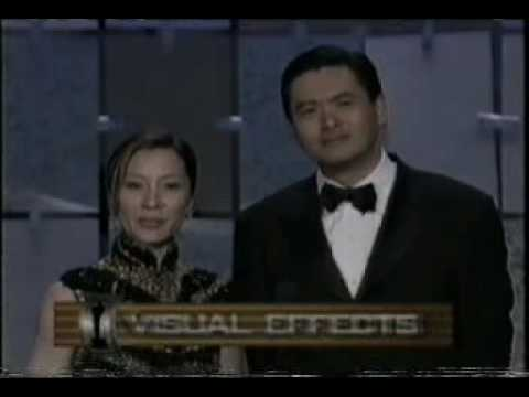 Michelle Yeoh and Chow Yun-Fat on the 73rd Academy Awards Ceremony