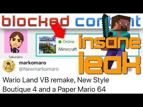Credible LEAKER Unleashes ALL THE LEAKS + Minecraft FINALLY Coming To Smash?!