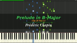 Prélude in B-Major - Chopin (Op.28 No.11) [Piano Tutorial]