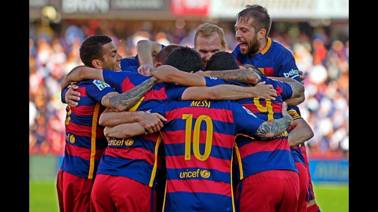 Fc Barcelona All Goals La Liga 2015 2016 Hd Youtube