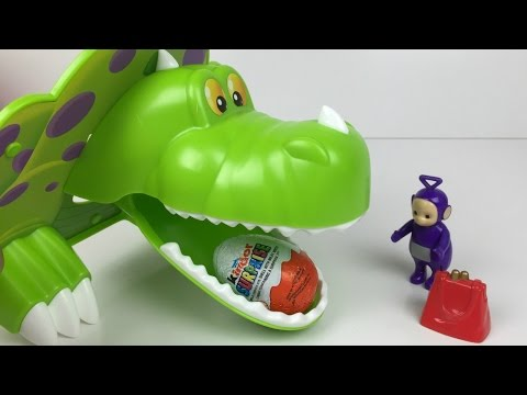 Teletubbies Tinky Winky With Dino And Kinder Surprise Chocolate Egg