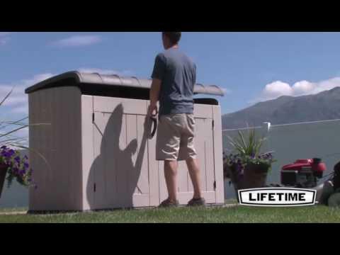 Lifetime 60168 Horizontal Lockable Tan Storage Box