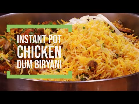 FULL PROOF INSTANT POT CHICKEN DUM BIRYANI. NO-PRE COOKING NEEDED ON SAUTE MODE OR ANY OTHER MODE.