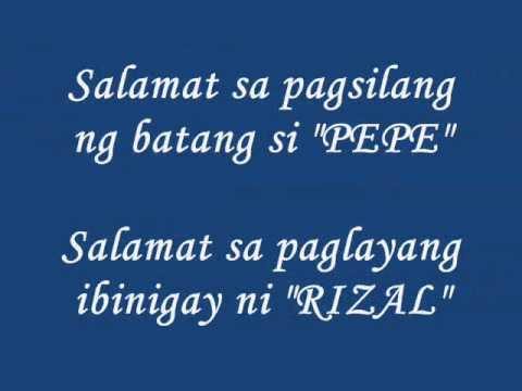 Slogan tungkol kay dr jose rizal