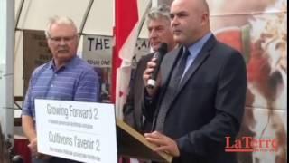 Annonce de 1,75M$ en investissement au Canadian Outdoor farm show