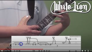 White Lion - Wait - Guitar Solo Lesson with Tabs!