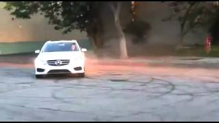 donuts and drift in mercedes e350 2014