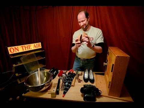 Foley artist shows how sounds effects are made