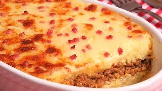 Pastel de Patata y Carne | Receta muy Fácil y Deliciosa
