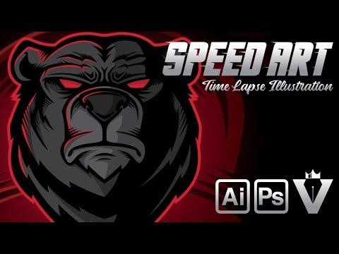 Bear Logo Illustration | SPEED ART