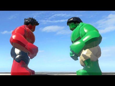 RED HULK VS HULK (BATTLE) - LEGO Marvel Super heroes - YouTube