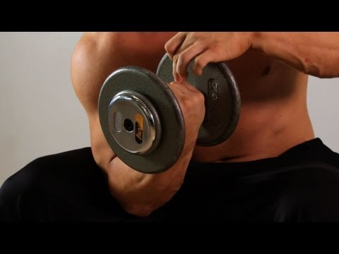 Swiss Ball One-Arm Concentration Curl | Arm Workout